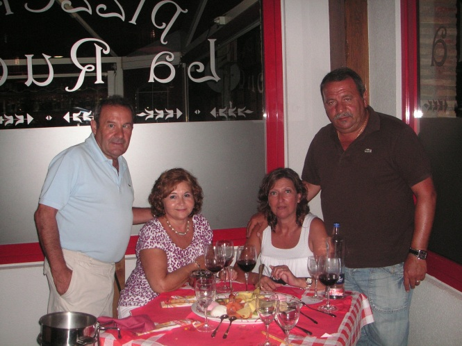 Cenando en un italiano